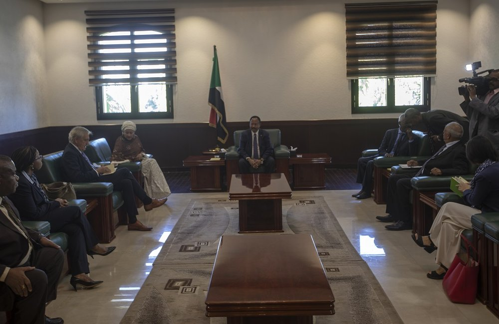 DSG and her delegation meet with the Prime Minster of Sudan in Khartoum