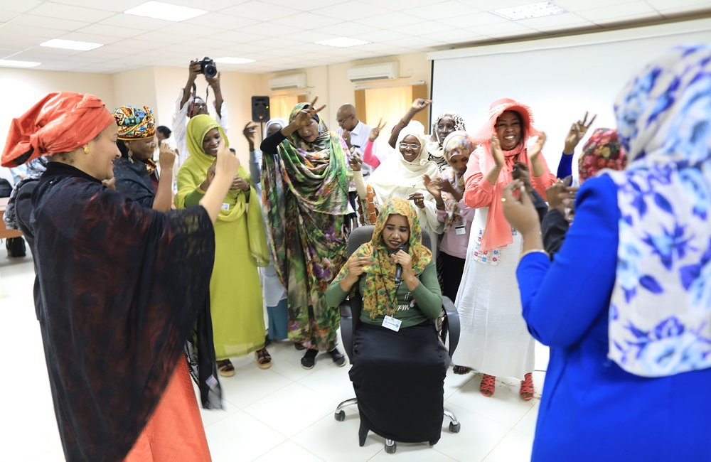 DSG interacts with women representatives in El fasher, North Darfur