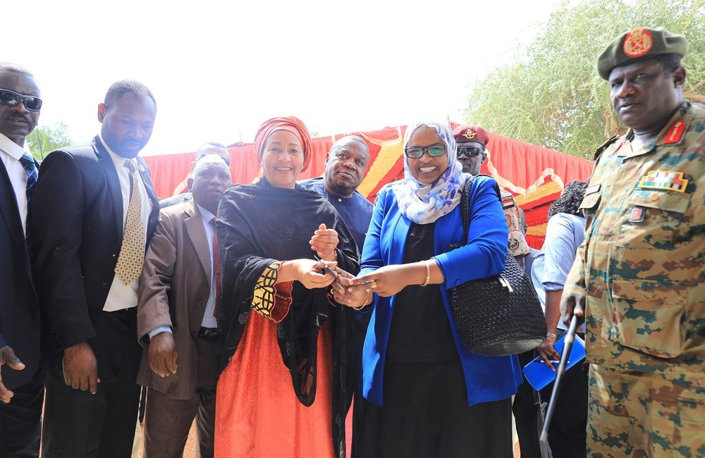 DSG inaugurates the Human Rights Resources Center at Elfasher University in North Darfur State.