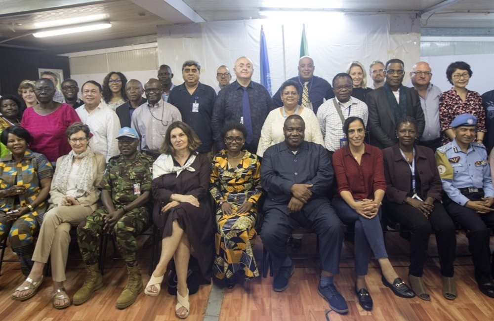 UNAMID Mission Leadership at a Retreat they held in El Fasher, north Darfur (22-23 August) to discuss Mission achievements & drawdown towards closure at the end of June 2020