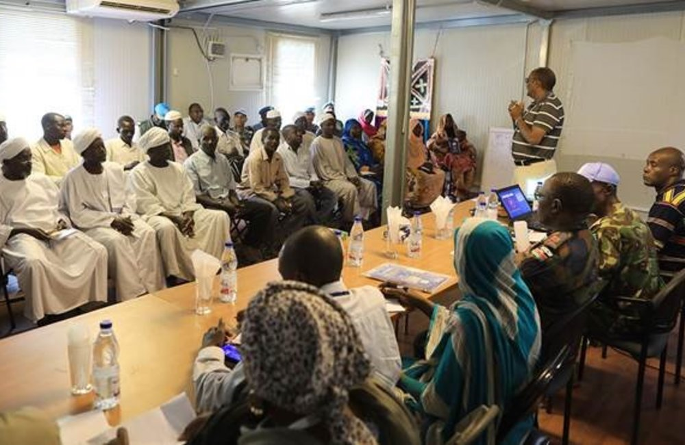 On 15 July 2019, a UNAMID integrated team met with local community representatives in Kutum, North Darfur State.