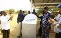 UNAMID hands over police post to the Government of Sudan police in West Darfur