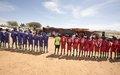 اليوناميد تنظِّم منافسة في كرة القدم من أجل السلام بقرية سويلينقا، شمال دارفور
