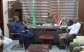 UNAMID JSR Mamabolo meets Acting Wali (Governor) and IDPs in south Darfur