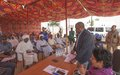 UNAMID Joint Special Representative briefs IDP leaders in North Darfur on Mission reconfiguration