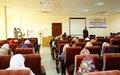 مكاتب التنسيق الولائية التابعة للأمم المتحدة تنظم دورة تدريبية لبناء قدرات الشرطيات السودانيات في شمال دارفور