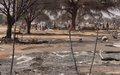 UNAMID assists displaced persons extinguish fire at El Neem camp, East Darfur
