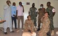 UNAMID peacekeepers conduct basic life support training for volunteers in Central Darfur