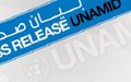 UNAMID and Government of Sudan agree to reactivate Darfur joint security mechanism