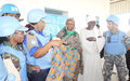 UNAMID Donates Women's Clothing to the Displaced in Zalingei, Central Darfur