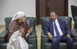 UN Deputy Secretary General, Ms. Amina J. Mohammed and her delegation, met with the Prime Minister of Sudan, Mr. Abdalla Hamdok in Khartoum.